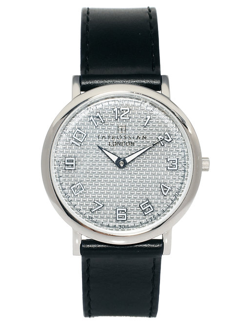 Tateossian Stainless Steel & Carbon Fiber Grey Dial Watch, WA0033