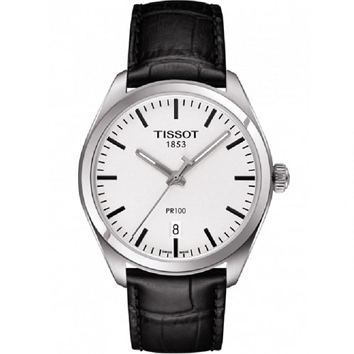 Tissot PR 100 Classic White / Leather T101.410.16.031.00