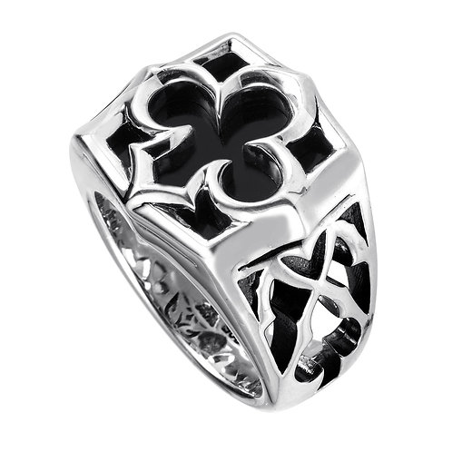 Stephen Webster Carved Aces Ring with Inlay