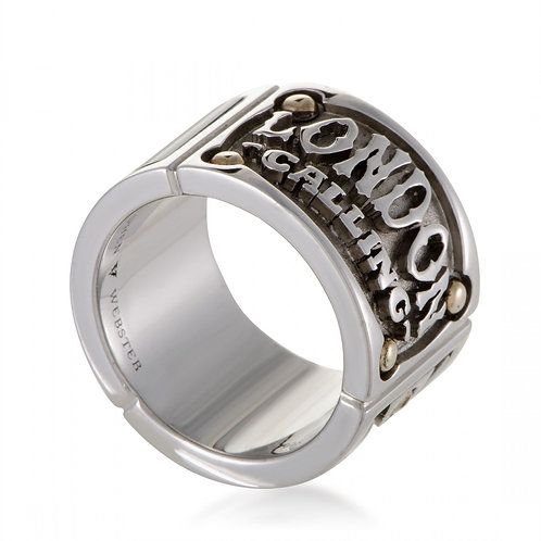 Stephen Webster London Calling Triple Ring with Onyx Inlay