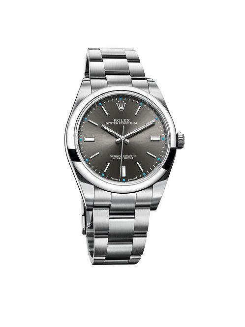 Rolex Perpetual 39 Blue 114300 (2017, unworn)