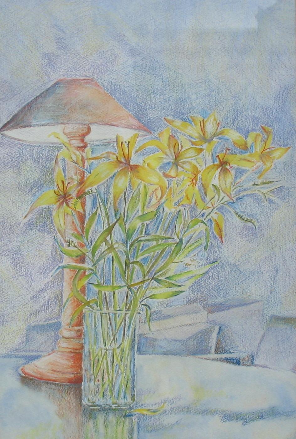 59. ' Lamp & Lillies'