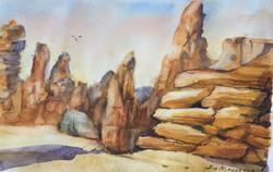 579. 'Sedimentary Rocks Barn Hill Station'W