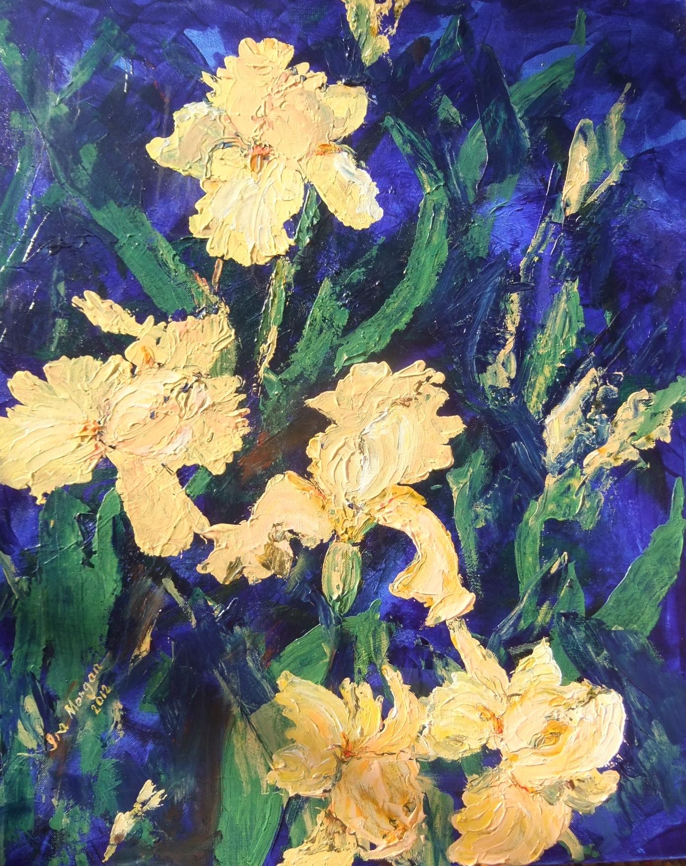 160. ' Buttery Irises'