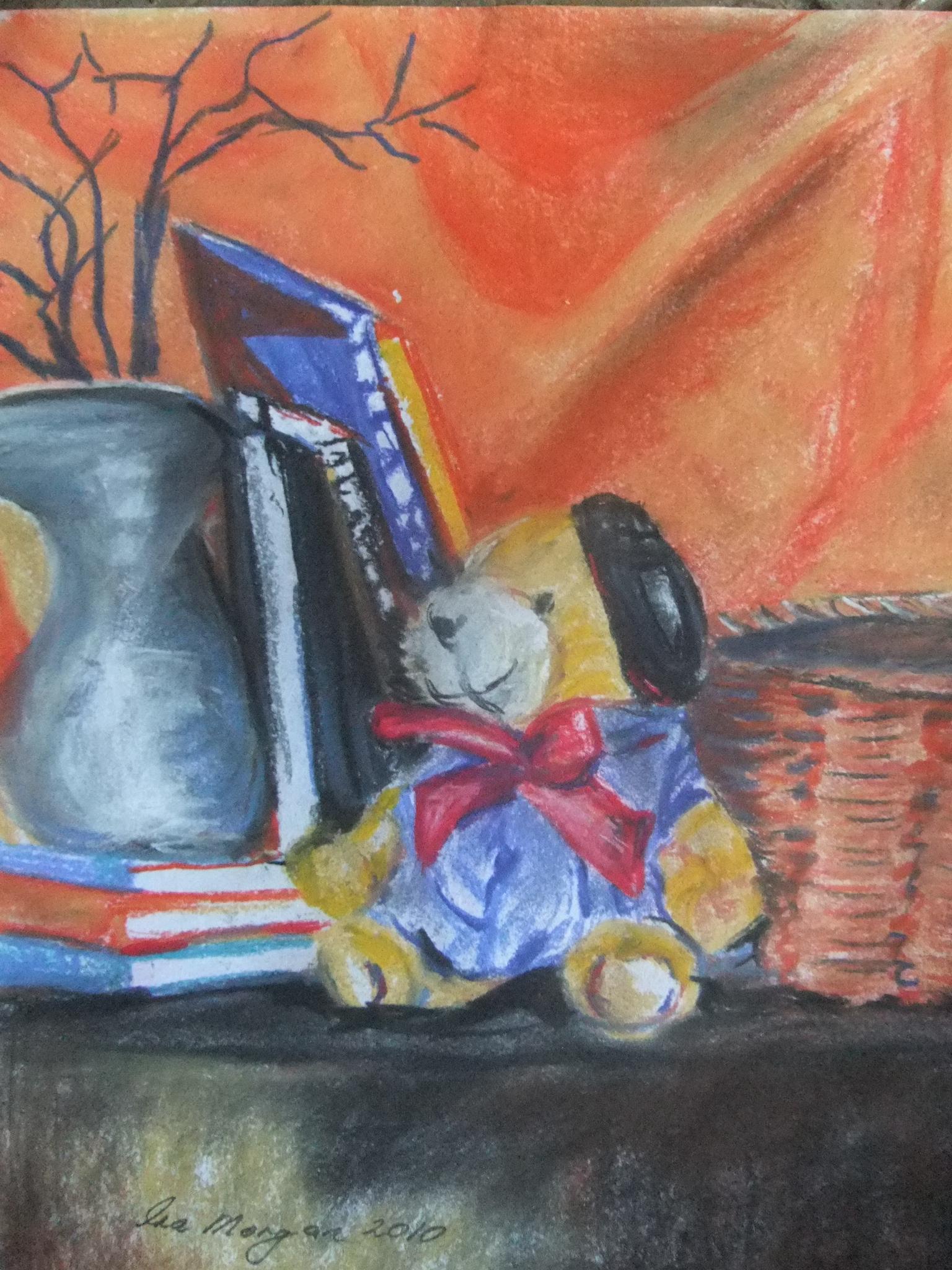 149. ' Teddy on shelf'