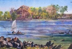 587.  'Hobie At Mary Kathleen Dam QLD'