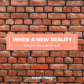 When a NEW Reality hits you like a brick wall.