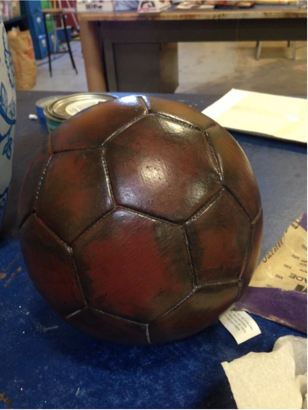 Aged Prop Soccer Ball