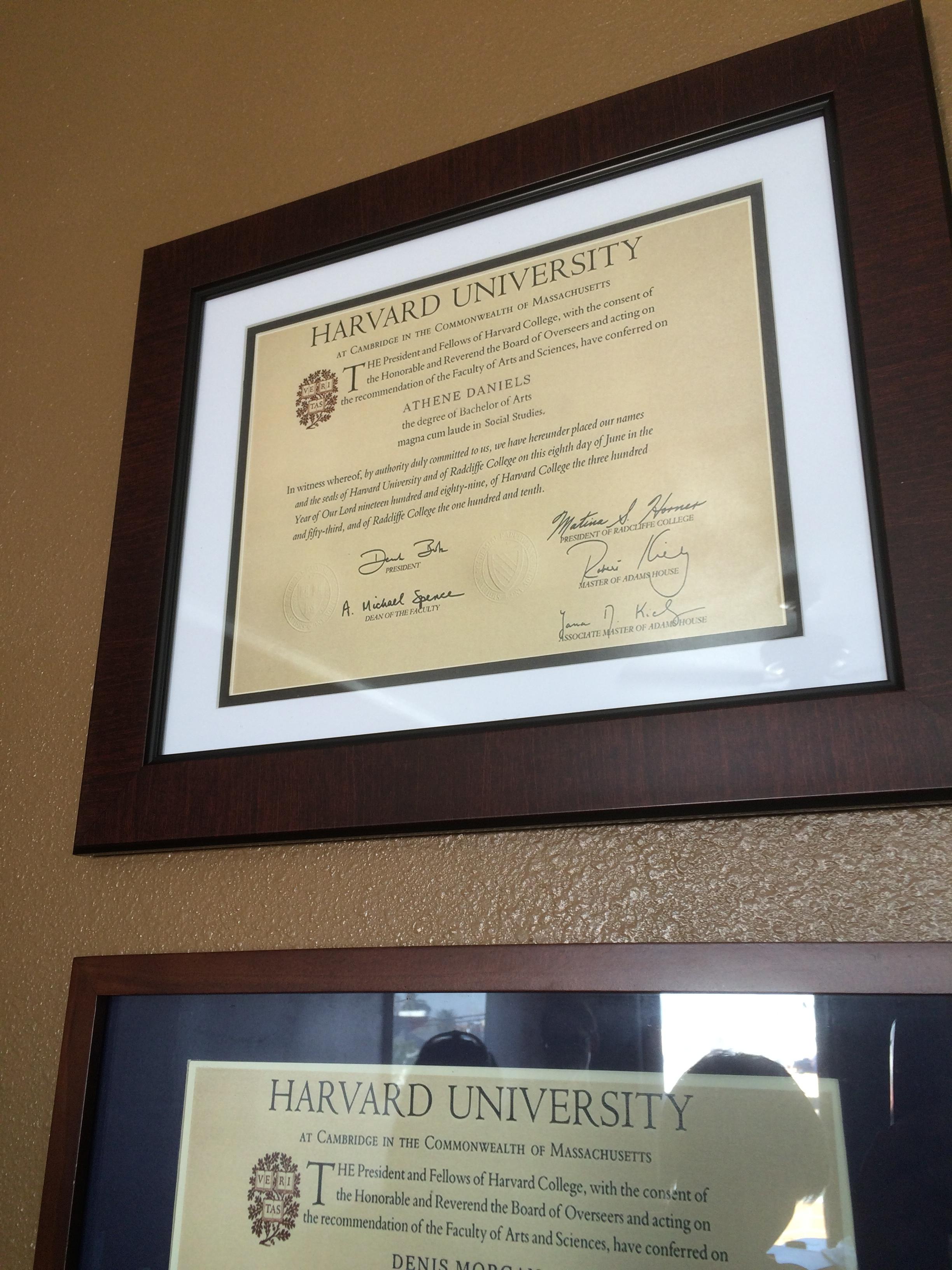 Prop Harvard Diploma
