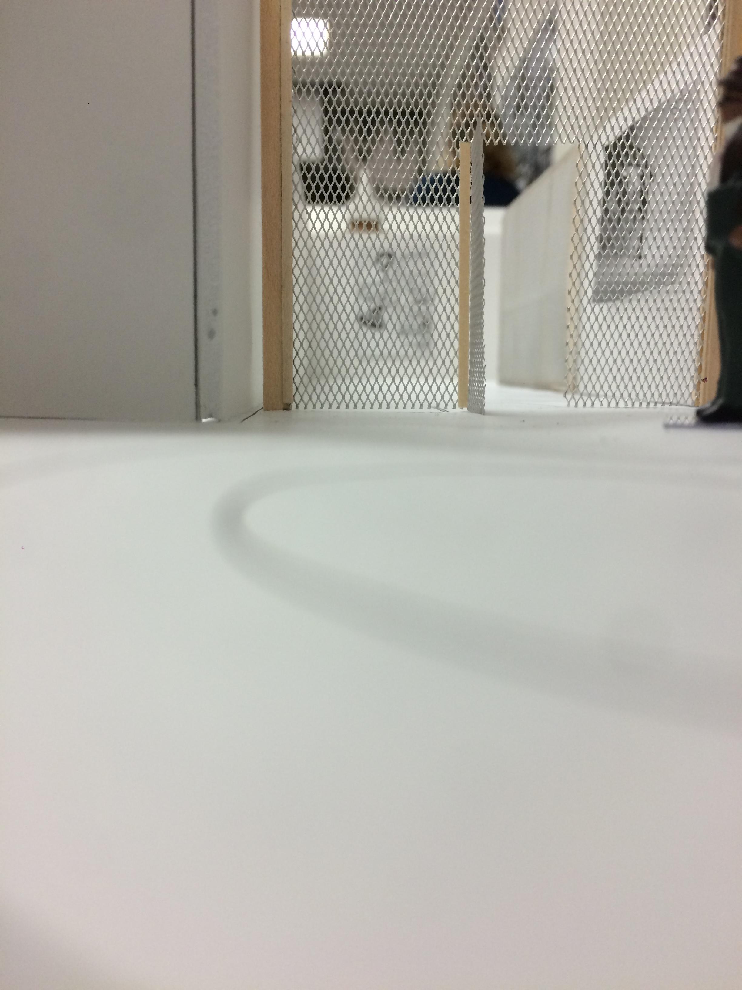 Gated off hallway