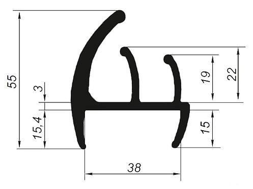 5017 Профиль уплотнительный для фургонов и полуприцепов (цена за 1 метр)