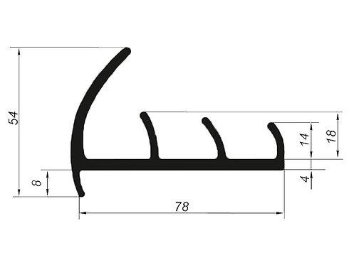 5016 Профиль уплотнительный рефрижераторов (цена за 1 метр)
