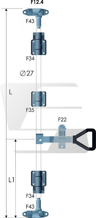 Штанговый замок с рукояткой Delta d27, оцинкованный