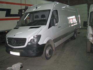 Обшивка цельнометаллического фургона Mercedes Sprinter