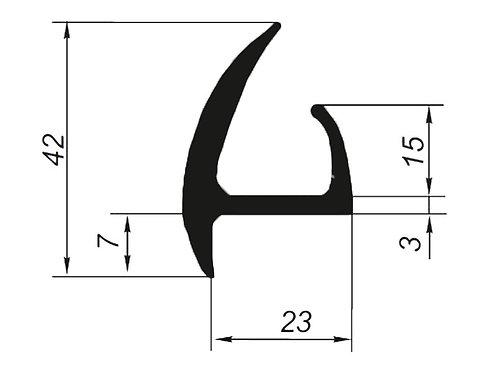 5015 Профиль для дверей автофургонов и прицепов (цена за 1 метр)