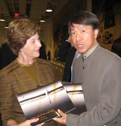William Ho with Laura Bush