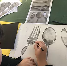 Morne's Utensil study in pencil