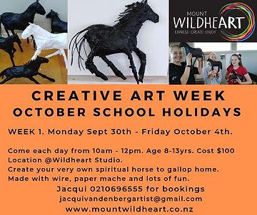 OCTOBER SCHOOL HOLIDAY. Creative ART WEE