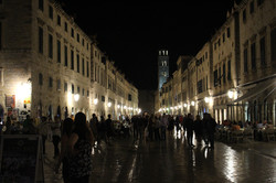 Dubrovnik in the evening