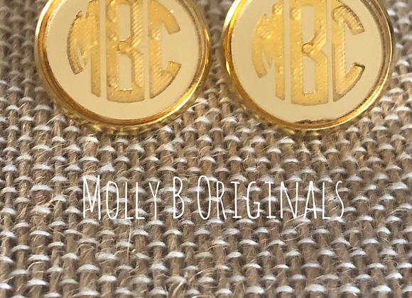 Monogram Stud Earrings ©️