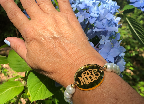 Medallion Monogram Bracelet