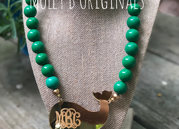 Whale of a Tale Monogram Necklace©️
