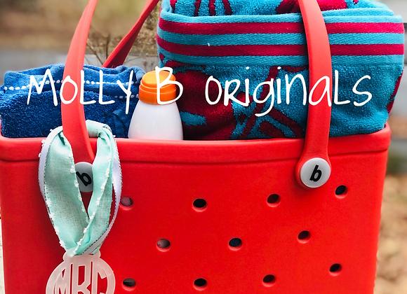 "Bogg bag ©️3"" Tie on Monogram"