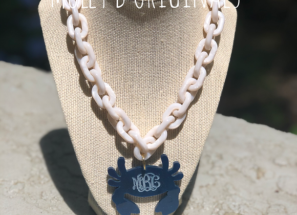 Chain Link Monogram Crab