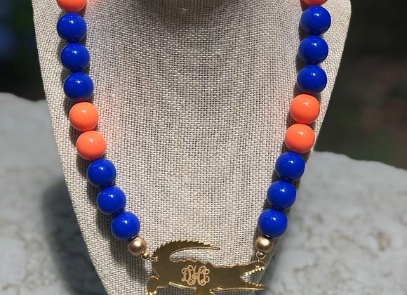 Gator Nation Monogram Necklace