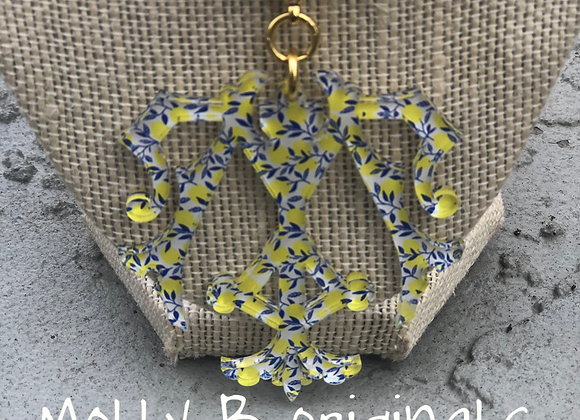 Pendant ONLY Printed Monogram