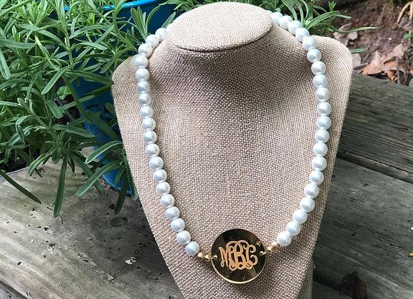 Mirror Medallion Monogram Necklace ©️