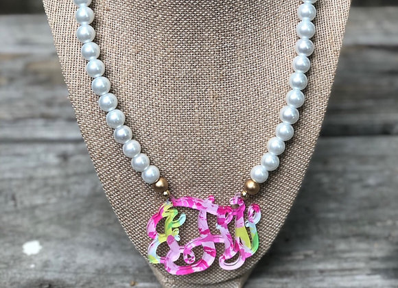Lilly Inspired First Impressions Monogram Necklace