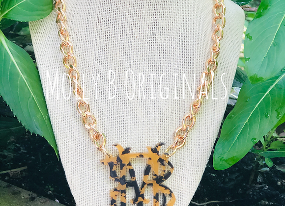 Fall Monogram on a Chain