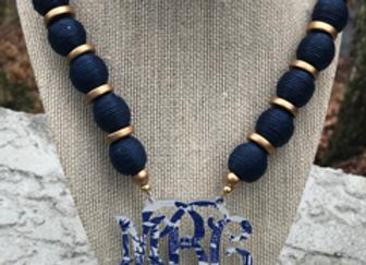 Toile Monogram Necklace