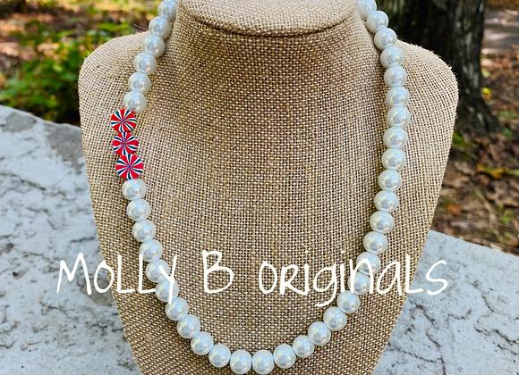 Molly B Single Strand Holiday Pearl Necklace