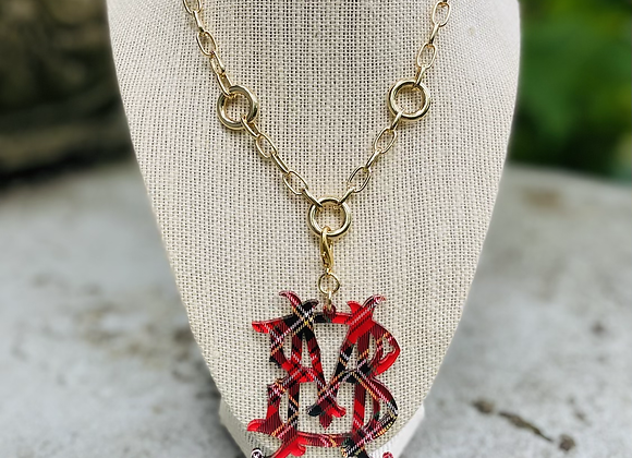 Christmas in July Monogram Necklace