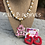 Thumbnail: Chic Monogram in Valentine Hearts- Inter changeable
