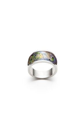 Olive orchard band ring