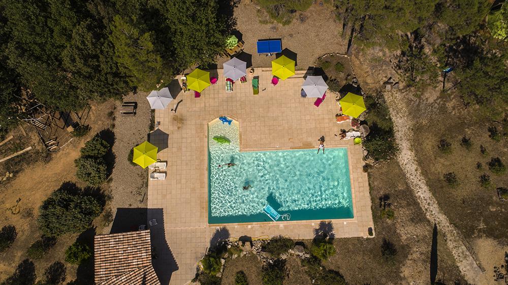 La piscine - Vue plongeante