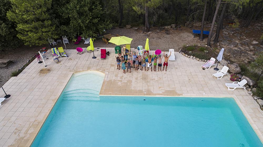 Selphie géant à La piscine
