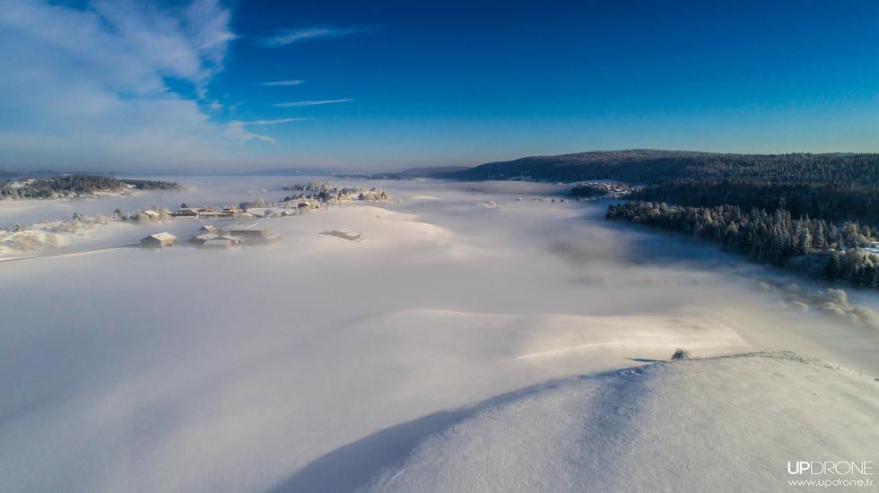 Plaine glacée-Haut Jura