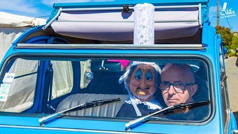 Le ventriloque David Eldé et Odile la Bretonne