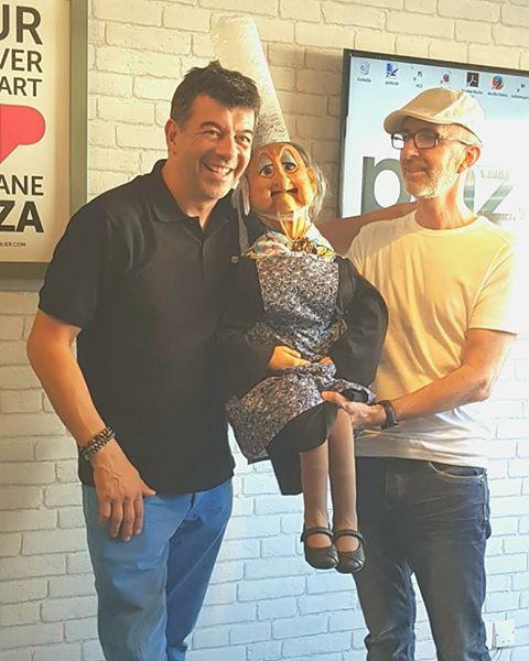 Le ventriloque David Eldé, ODILE la Bretonne et Stéphane PLAZA d'M6.