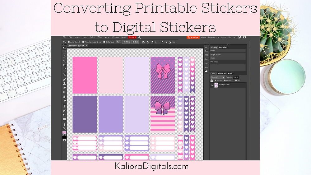 How to Convert Printable Stickers into Digital Stickers