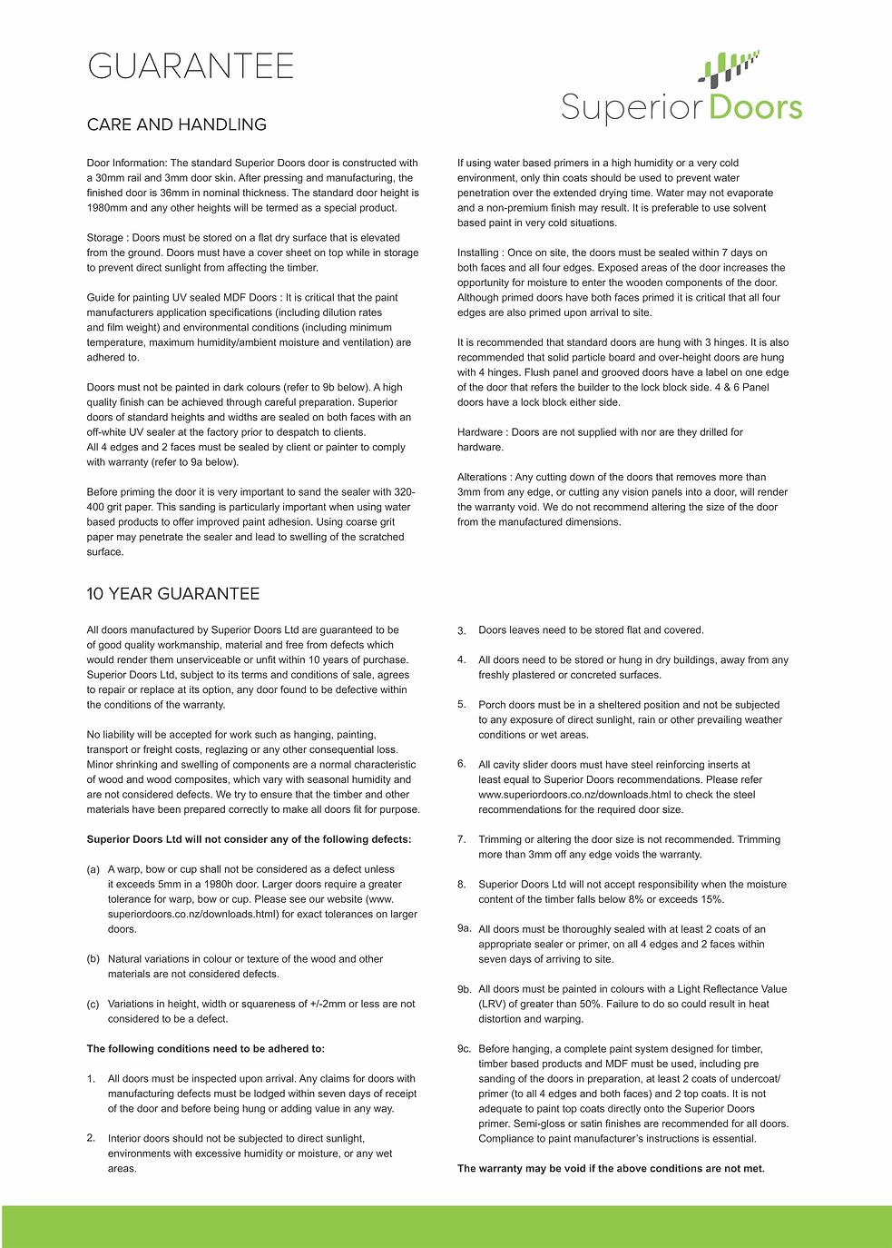 Superior Doors-Guarantee-Care-Handling-2