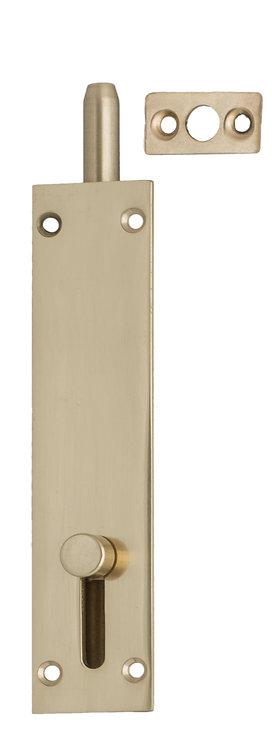 215 PB - Flush Slide Bolt - Polished Brass