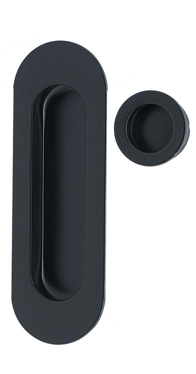 224 BK -  Oval Flush Pull Kit - Black
