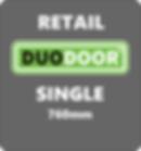Duo Door Single grey background retail 7