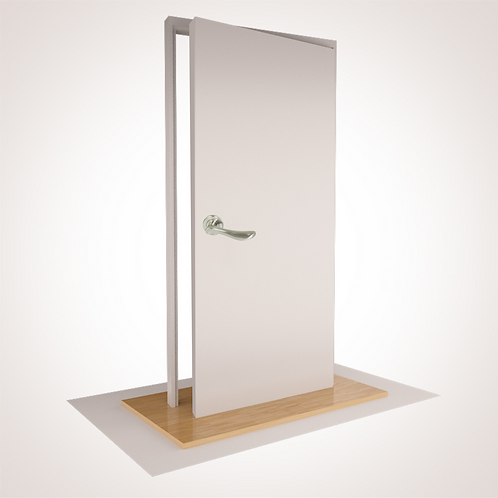 """--PLAIN-- DBL  W/ROBE- with """"S"""" Range Fixed Lever (2), Magnet (2), Doorstop (2)"""