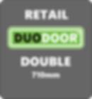 Duo Door Double grey background retail 7